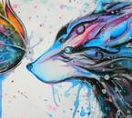 Loup et Papillon, c'est mignon :3