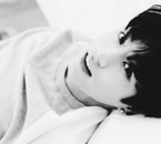 Photoshoop black and white Jungkook