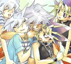Bakuras, Yugi et Atem