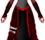 tenu Mari noir et rouge et aussi en bleu et noir pour Ayem