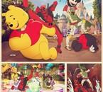 Photos souvenirs de Deadpool et Boba Fett à Disneyland ~