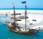 Un voyage avec la famille au sommet de l'île de sable djerba