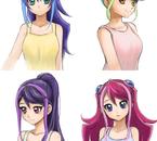 Les doubles dimensionnelles aux cheveux longs