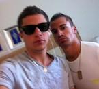 Aout 2011 à Rhodes - Vince et Moi à droite