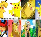 Les chefs de la Team Pikachu et leurs dresseurs