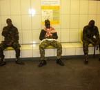Gueriellerose Black dans le métro