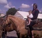 mes beautés sur un cheval