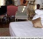 le lit où il serait soit disant mort