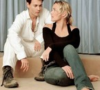 Johnny Depp and Kate Winslet