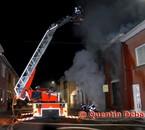 Incendie à Quaregnon la nuit du 22 avril 2009