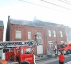 Incendie d'une maison abandonné à Ham-sur-Sambre