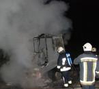 Incendie de tracteur à Le Roux , le 4 mai 2009