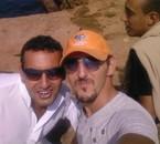 moi et mon ami fatah acap de l'eau