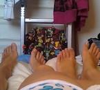nos pieds