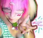 Enfin blonde platine et rose :3