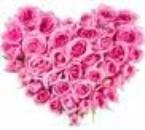coeur en forme de roses