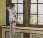 La fenêtre Aquarelle de Claude Dubois