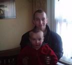 mon fils dylan et son parrain