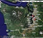 vue satelite de Forks