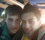 Alex & Moi après le match face à Béziers dans le bus ..