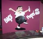 Mon oeuvre après la pancarte à Seb alias BABA'S