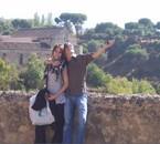 le frère et moi qui font les cons à Segovia ><