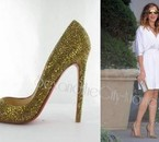 Christian Louboutin Gold Pigalle Shoes