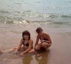 moi et ma soeur a la plage