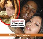 Lil Wayne's baby mother's with him