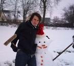 Moi et Shrek des neiges.