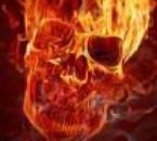 tete de mort en feu