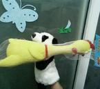 panda 抢 chicken