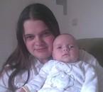 Ma fille et moi, le jour que j'allais rentrée à l'hôpital .