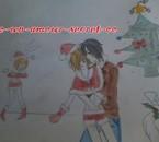 Trio en mode Noël XD (illustration du chapitre 2)