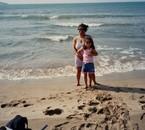 ma fille et moi à Rosas en espagne