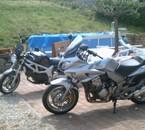 notre 1000 CBF HONDA et la 1ère moto de ma fille un 650 SV
