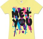 Justin Bieber Me + You Scribble Girls Fitted Tee Yellow
