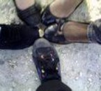 nOm pieds avc 10 centimes au centre :)