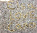 gravé sur le sable