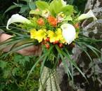 bouquet de mariée avec poignée décorée de blé!