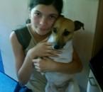 me voici avec mon chien