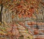 le canal du midi a l'automne (Aquarelle)