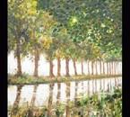 Huile ( le canal du midi vers Beziers)