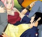 Sakura & Sasuke, ils sont trop mignon *.* ...