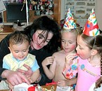 Michael and the kids<3