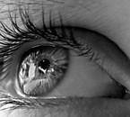 Oeil en noir et blanc