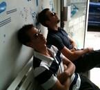 Guillaume et Zlatan en pleine action