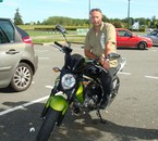 Moi sur la moto de mon fils