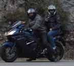 Mon mari et moi sur notre nouvelle moto