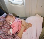 my baby in the plane for the 1 time